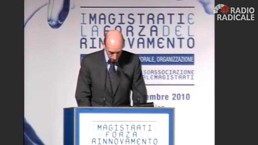 Antonio Mastrapasqua | XXX Congresso dell'Associazione Nazionale Magistrati