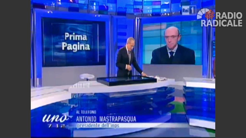 Antonio Mastrapasqua a Uno Mattina