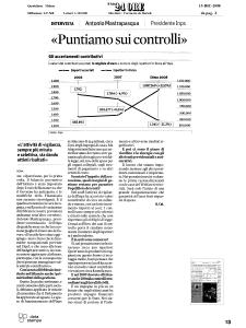 2008 - Rassegna Stampa Antonio Mastrapasqua