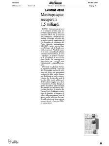 2009 - Rassegna Stampa Antonio Mastrapasqua