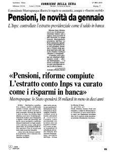2010 - Rassegna Stampa Antonio Mastrapasqua