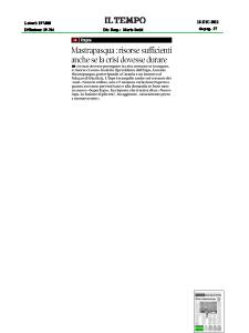 2012 - Rassegna Stampa Antonio Mastrapasqua