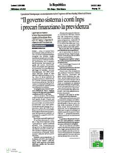 2013 - Rassegna Stampa Antonio Mastrapasqua