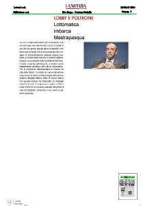 2014 - Rassegna Stampa Antonio Mastrapasqua