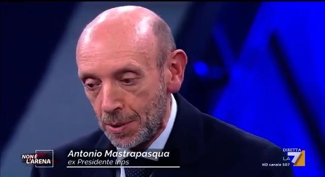 """Carte alla mano – Antonio Mastrapasqua a """"Non è l'Arena"""""""