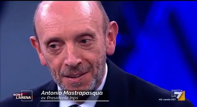 """Le risorse dell'INPS – Antonio Mastrapasqua a """"Non è l'Arena"""""""